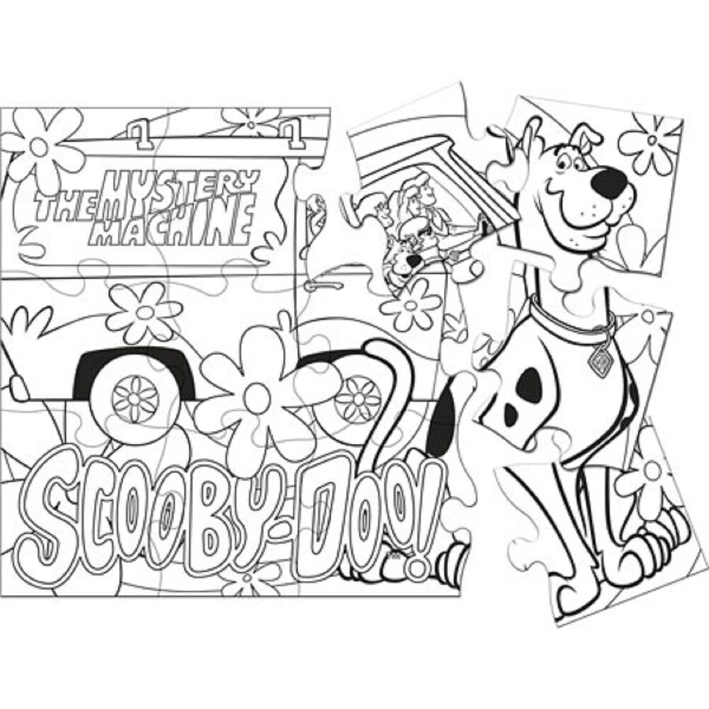 Rare here comes scooby doo cartoon dog birthday party game for Backyard party decoration crossword