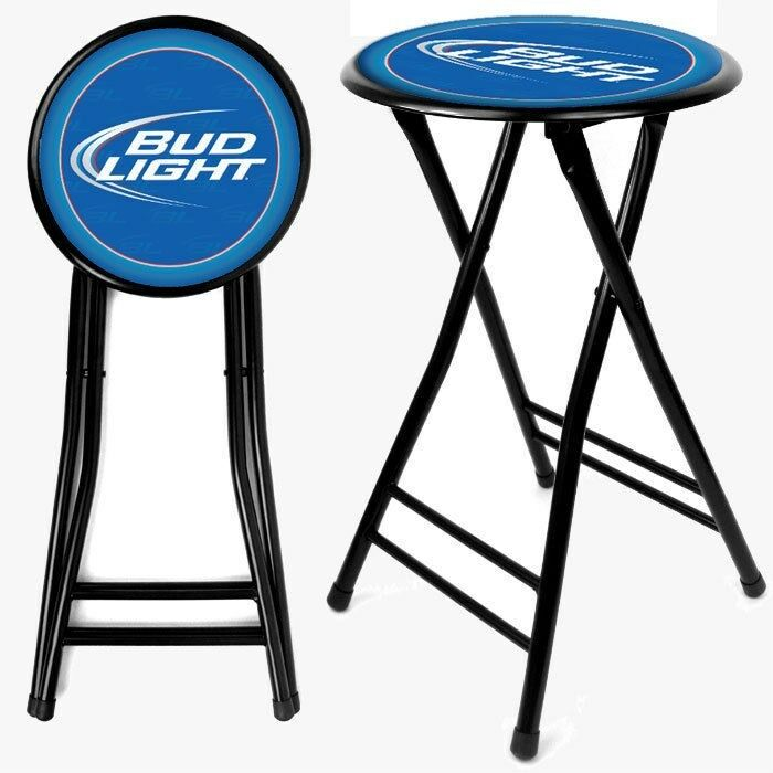 Officially Licensed Bud Light Folding Stool 24 Inches