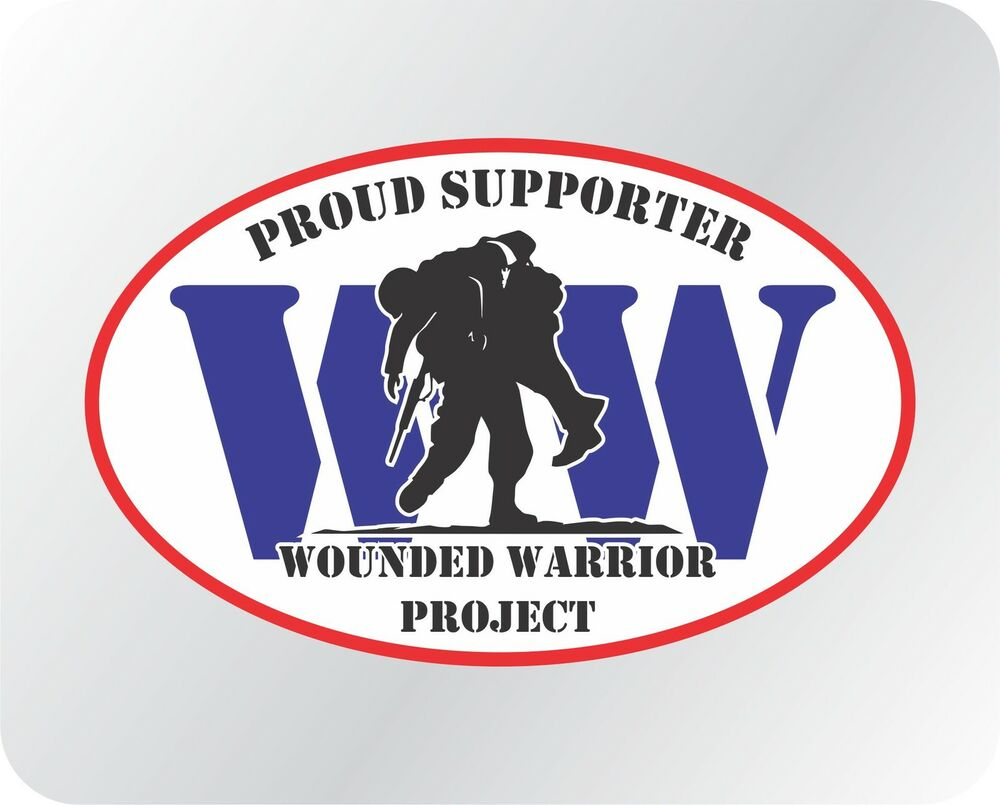 Wounded Warrior Project Supporter Vinyl Decal Sticker