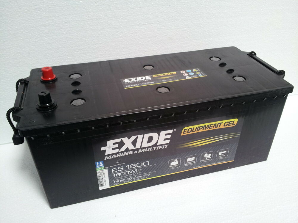 exide gel batterie es 1600 12v 140ah equipment gel ebay. Black Bedroom Furniture Sets. Home Design Ideas