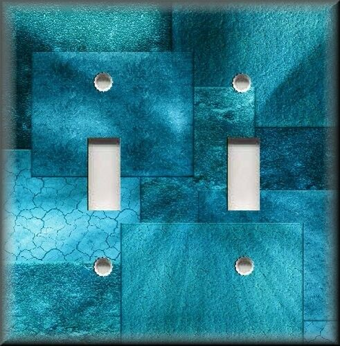 Light Switch Plate Cover Turquoise Blue Hues Wall