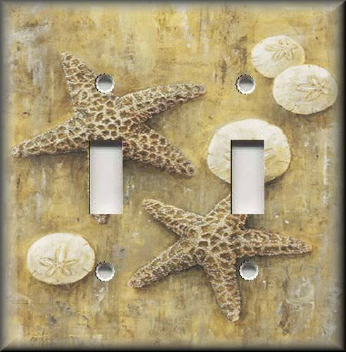 Beach Light Switch Plate Cover Coastal Decor Shells