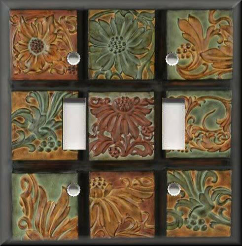 Light Switch Plate Cover Wall Home Decor Tuscan Tones