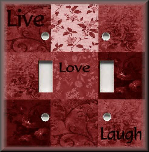 Light Switch Plate Cover Inspirational Live Love Laugh