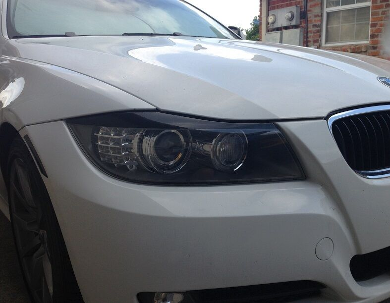 09 11 Bmw E90 3 Series 328i 335i M3 Headlight Eyelid Black