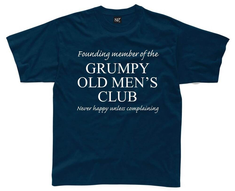 Grumpy old men 39 s club mens t shirt s 3xl funny printed for Silly shirts for men