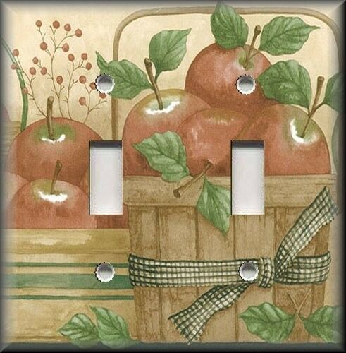 Light switch plate cover country apple baskets for Apple home decoration