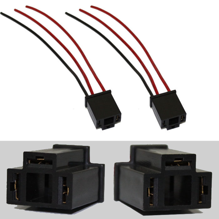 2x H4 Female Headlight Repair Wiring Socket Extension