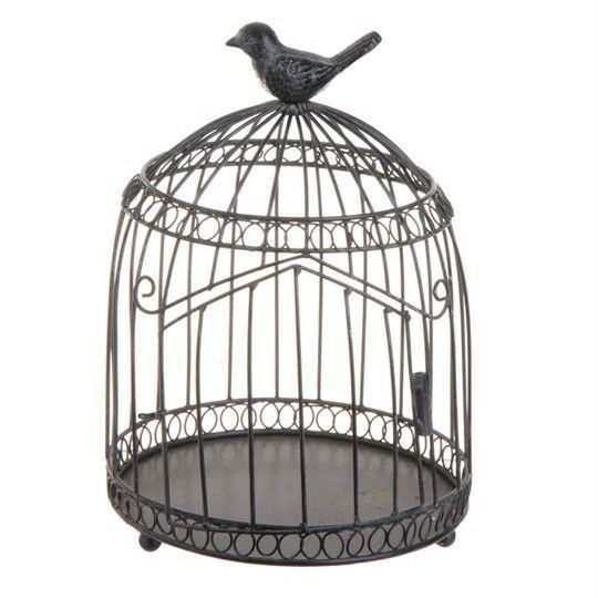 Birdcage Home Decoration Metal 10 Inches Tall 3315901 NEW