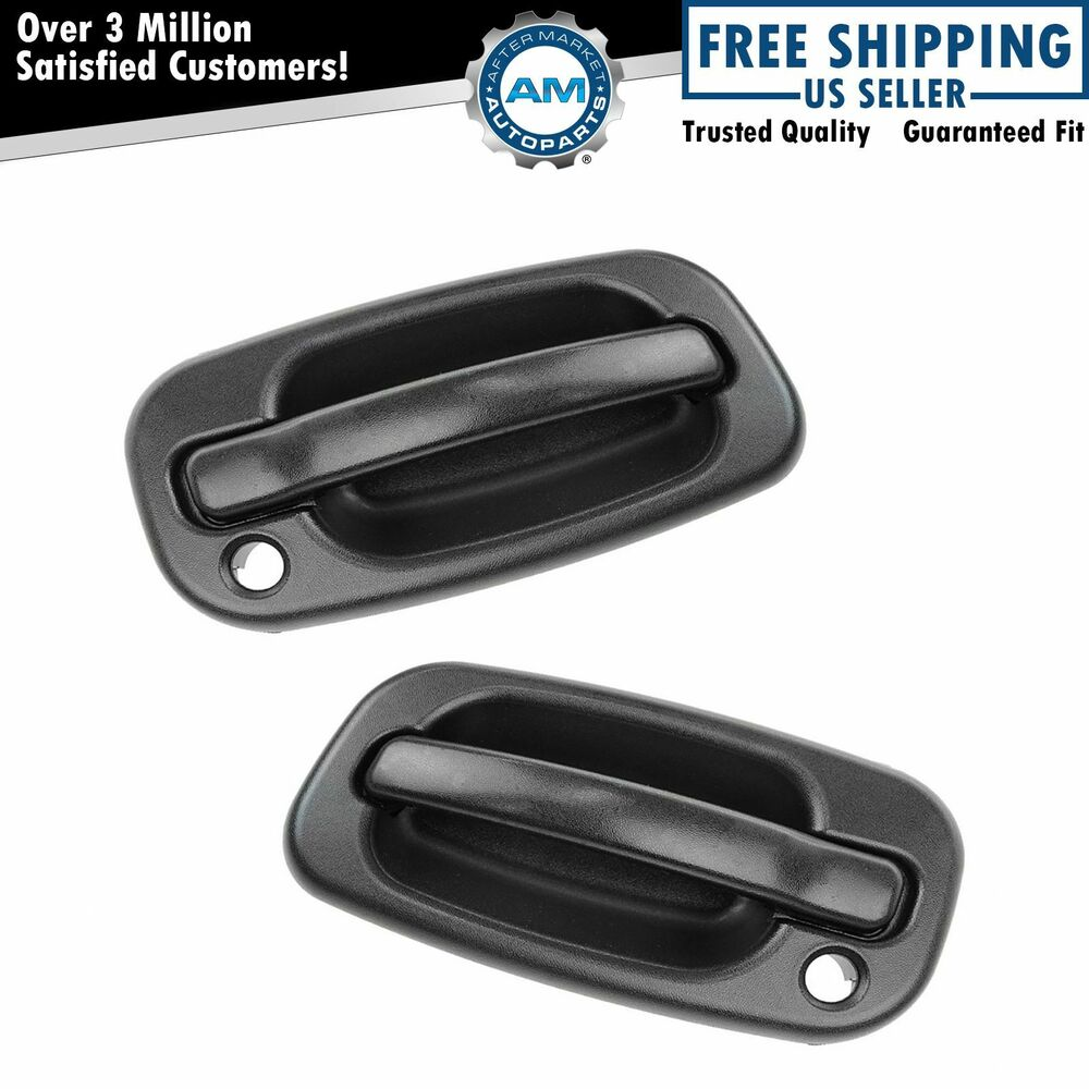 Door Handles Outside Exterior Black Front Left Right Pair Set For Chevy Gmc Ebay