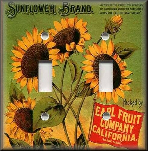 Light switch plate cover vintage fruit crate for Home decorations on ebay