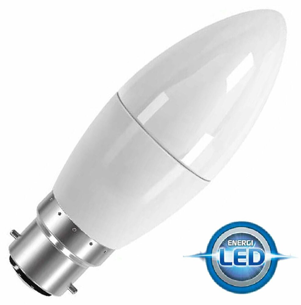 Energizer 6w 40w Non Dim Led Clear Candle Ses E14 Warm: PowerSave Dimmable~6.5w LED Bayonet Cap BC B22 Candle