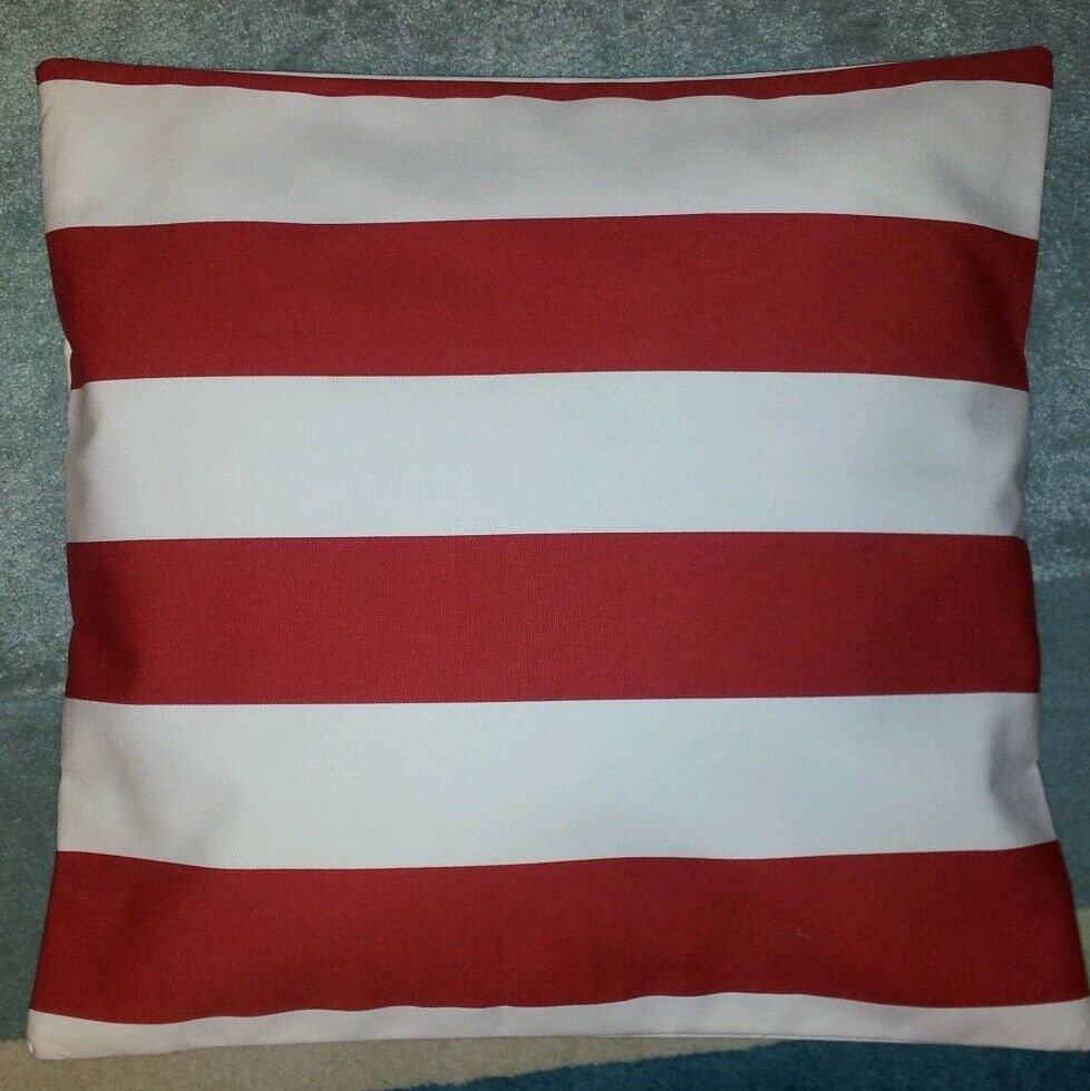 Large red and white stripe ikea fabric cushion cover 14 for Ikea uk cushion covers