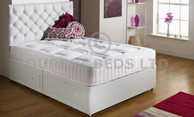 Divan Bed Memory Foam Orthopaedic Pocket Sprung Mattress