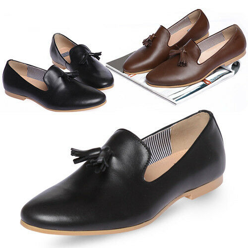 new mooda stylish tassel mens leather slip on casual dress