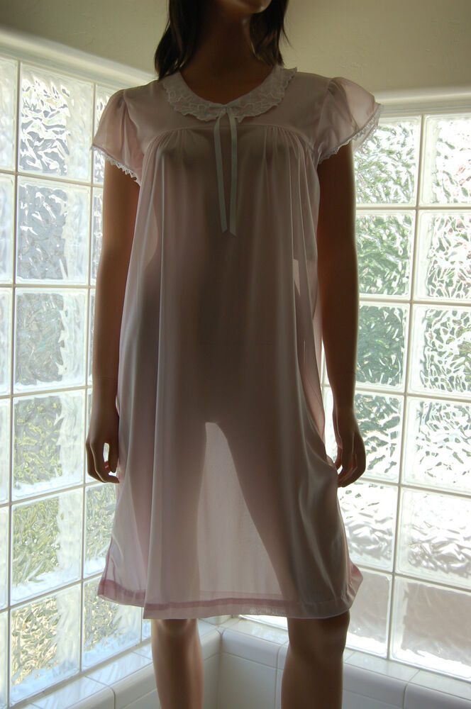 Vintage Soft Sheer Nylon Nightgown In Colors  Sizes, By -5092