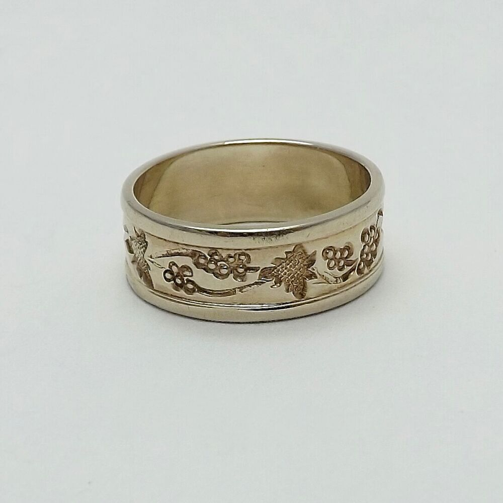 ed levin 14k 2 tone gold grapevine wedding band ring sz 5 ebay