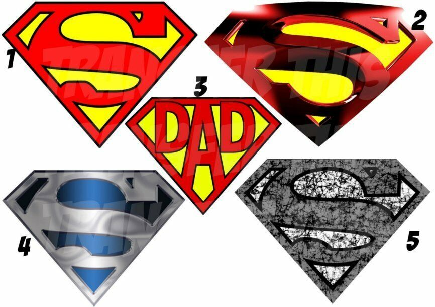 superman marvel logo sticker autocollant ou transfert textile vetement t shirt ebay. Black Bedroom Furniture Sets. Home Design Ideas