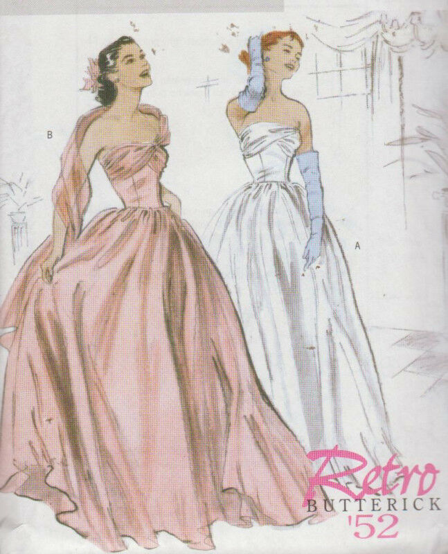 Draped Gown Pattern: PATTERN Vintage RETRO Style DRESS & Drape 6-12 & 14-20