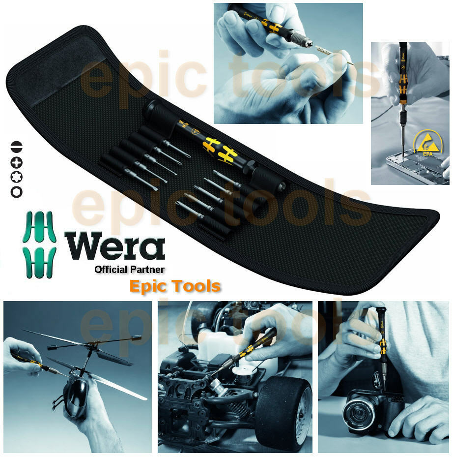 wera 11 piece kraftform micro esd anti static precision screwdriver set 073670 ebay. Black Bedroom Furniture Sets. Home Design Ideas