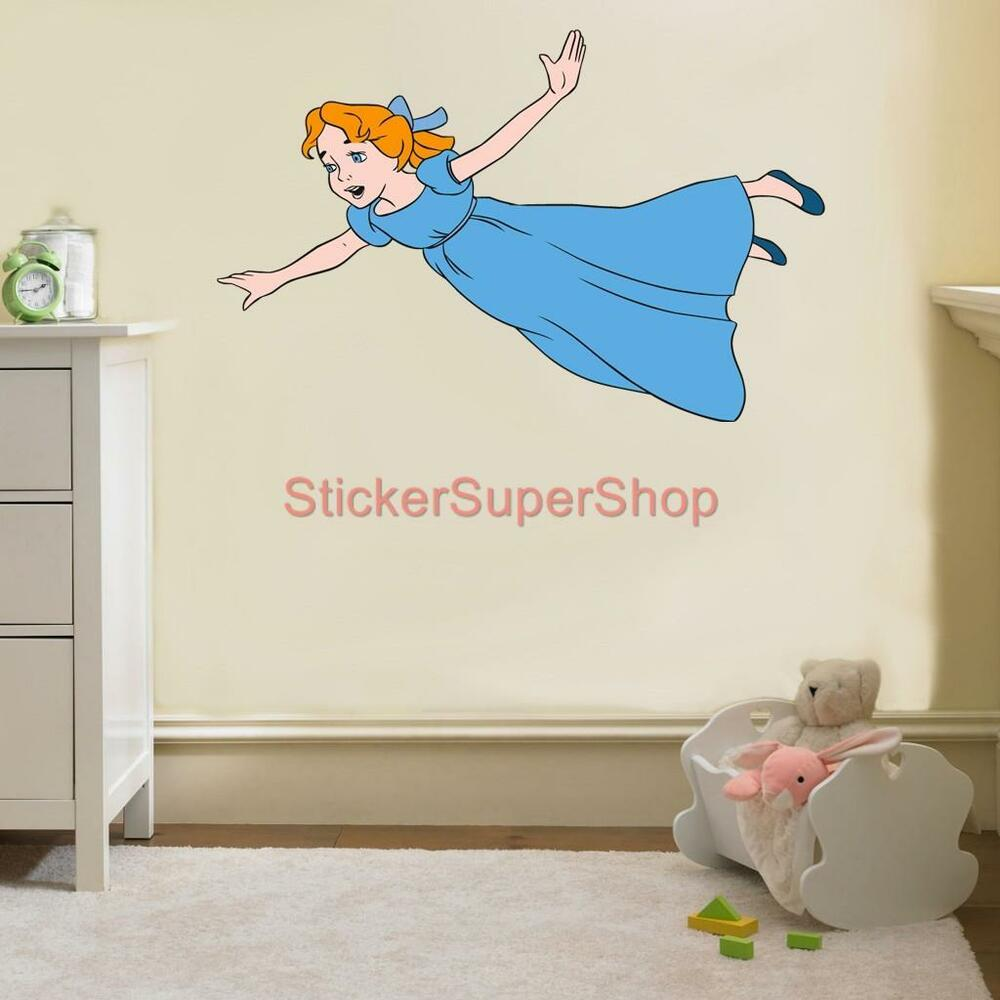 wendy peter pan neverland disney decal removable wall. Black Bedroom Furniture Sets. Home Design Ideas