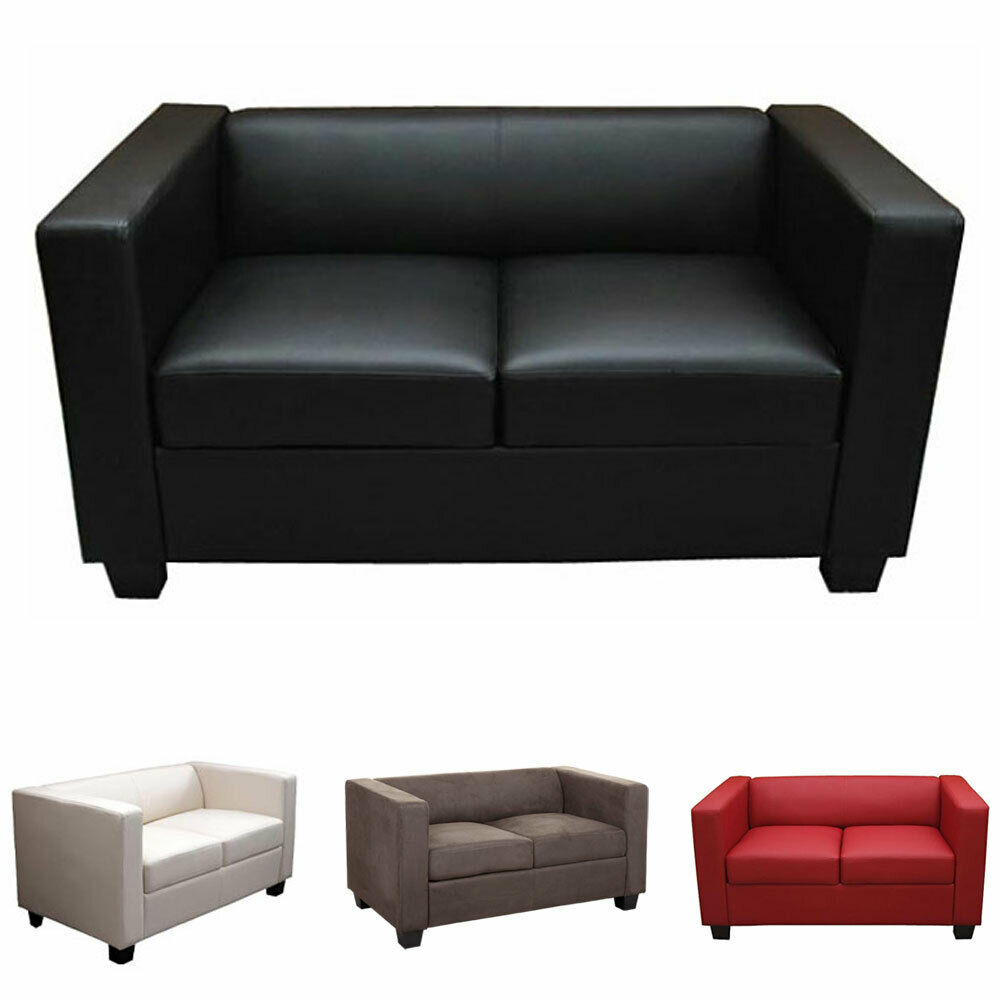 2er sofa loungesofa couch lille kunstleder leder. Black Bedroom Furniture Sets. Home Design Ideas