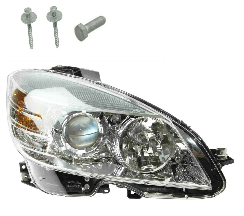 Oem right headlight assembly without xenon new for for Mercedes benz c300 headlight bulb