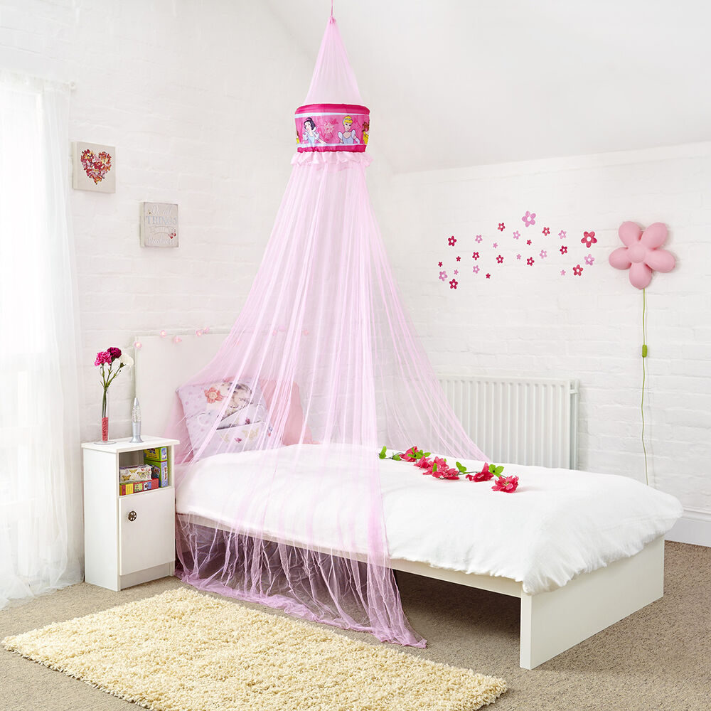 Princess Bed Canopy Girl Crown Pelmet Upholstered Awning: Kids Disney Princess Bed Canopy New