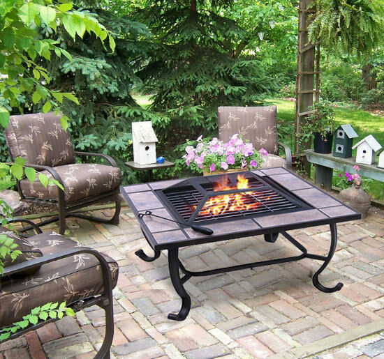 fire pit fireplace heater bbq grill stove outdoor patio cover ebay
