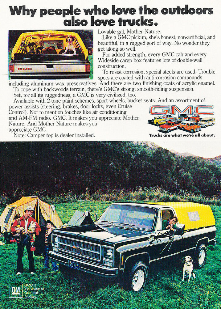 1973 Gmc Camper Top Pickup Truck Classic Car