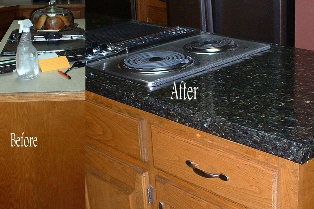Faux Fake Granite LOOK Counter Top Vinyl Contact paper Film Black 36 ...