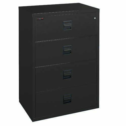 fireproof file cabinet fireking fireproof 4 drawer lateral storage file cabinet 15449