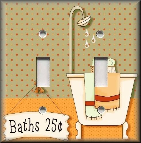 bathroom light switch covers light switch plate cover country bathroom beige bath 16110