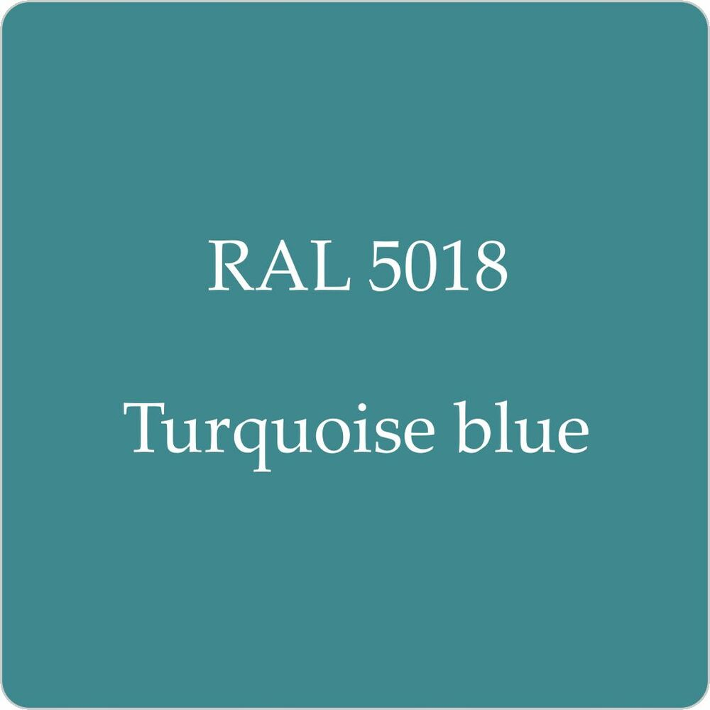 Ral 5018 Cellulose Car Body Paint Turquoise Blue 1l With