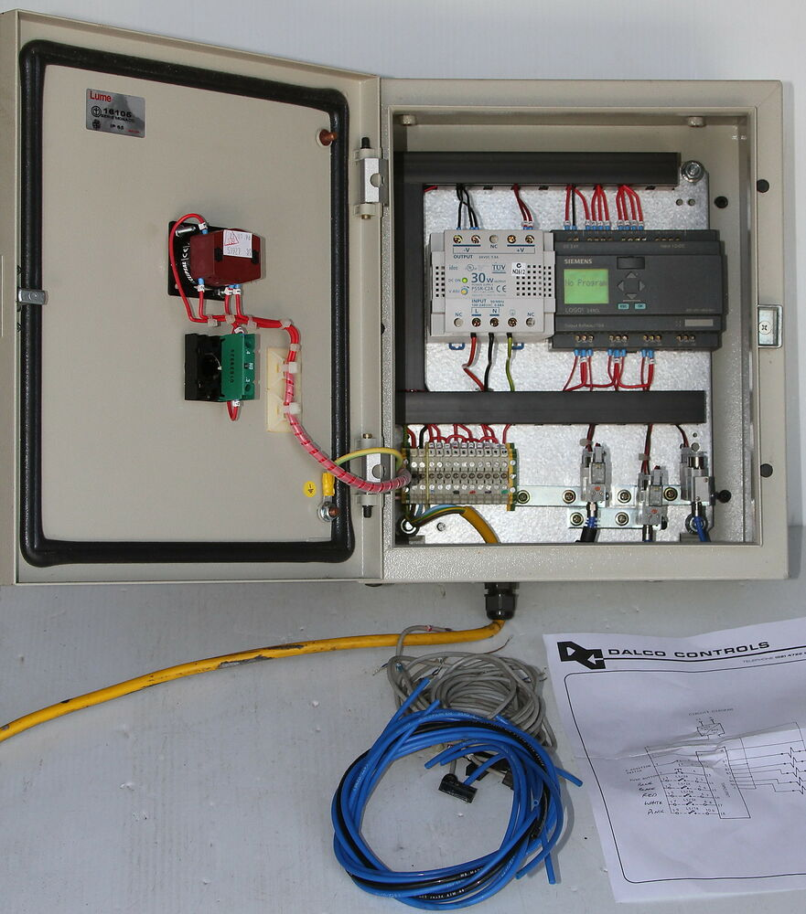 Siemens logo rcl electric pneumatic control box plc