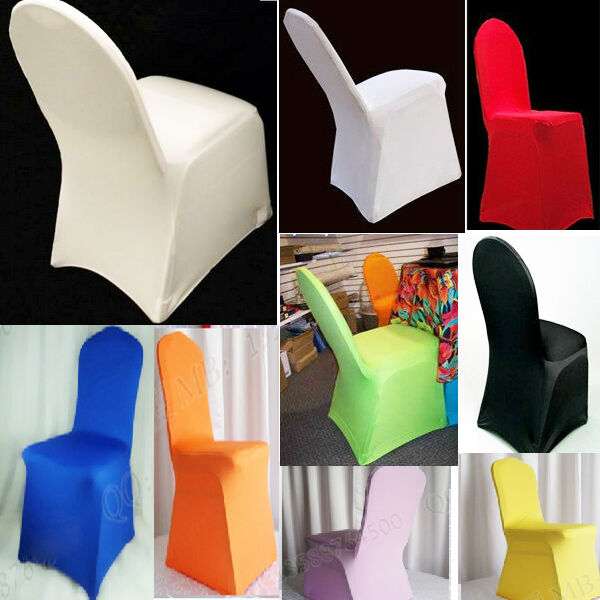 New Hot Polyester Folding Banquet Universal Chair Covers Wedding Ebay
