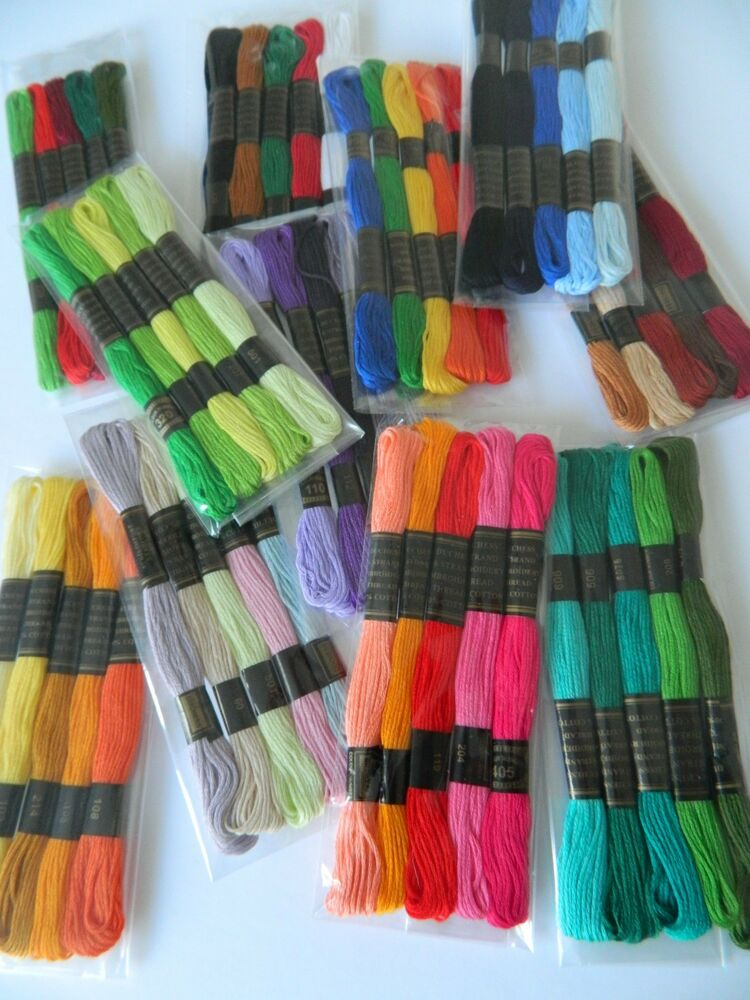 CHOOSE YOUR PACK  Stranded Cotton  Embroidery Sewing