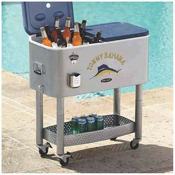 new tommy bahama outdoor rolling patio deck party cooler
