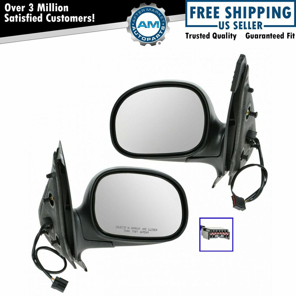 2002 Ford Expedition For Sale: Power Side View Mirrors Black & Chrome Pair Set For Ford