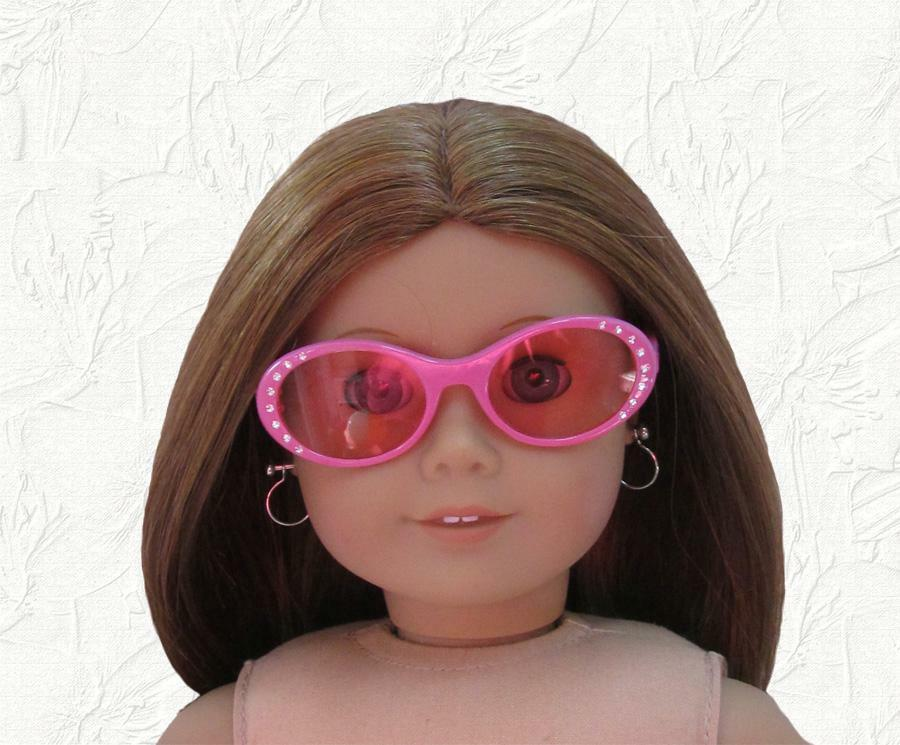 Doll Clothes 18 Inch Doll Sunglasses Pink With Rhinestones