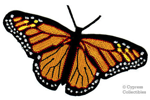 Monarch butterfly patch new iron on embroidered applique