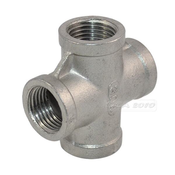 Steel Pipe Couplers : Stainless steel pipe fitting quot thread way female