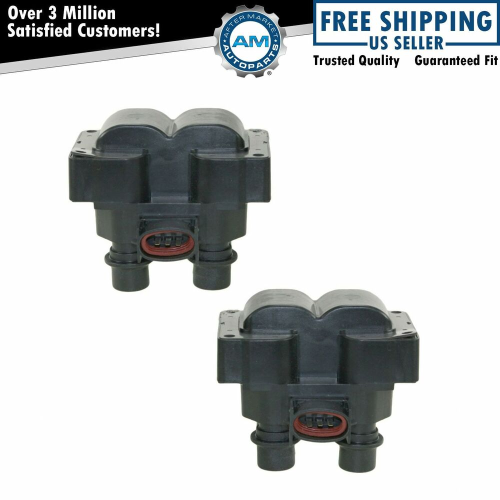 Ignition Coil Packs Pair Set New For Ford Lincoln Mercury