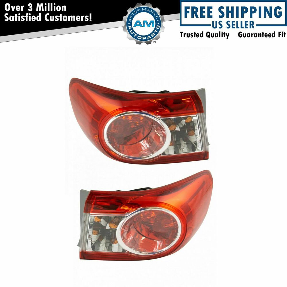 outer brake light taillight lamp pair set of 2 kit for. Black Bedroom Furniture Sets. Home Design Ideas