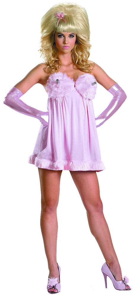 Fembot Austin Powers Pink Baby Doll Fancy Dress
