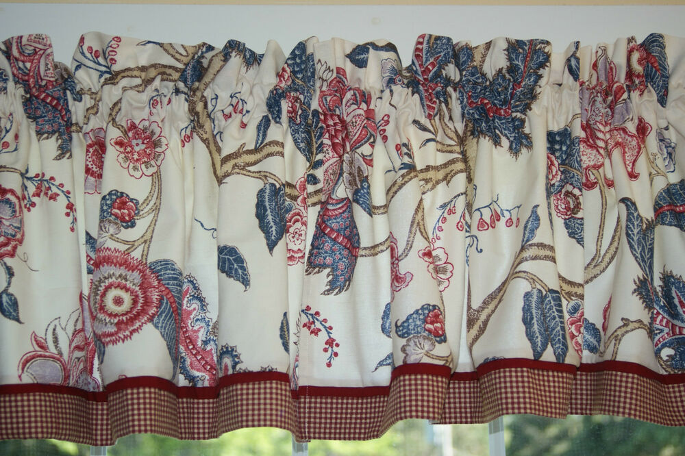 Laura Ashley English Country Red Blue Toile Valance 17 Quot X