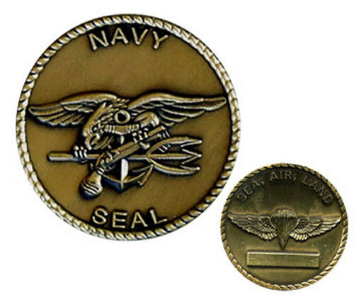 Navy Seal Trident Sea Air Land Bronze Military Challenge
