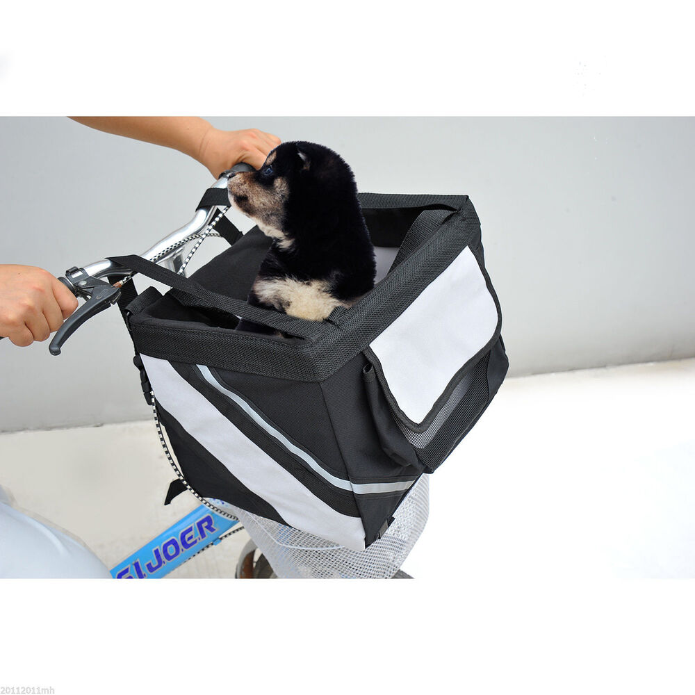 Pawhut Travel Pet Carrier Bicycle Dog Cat Kennel Portable