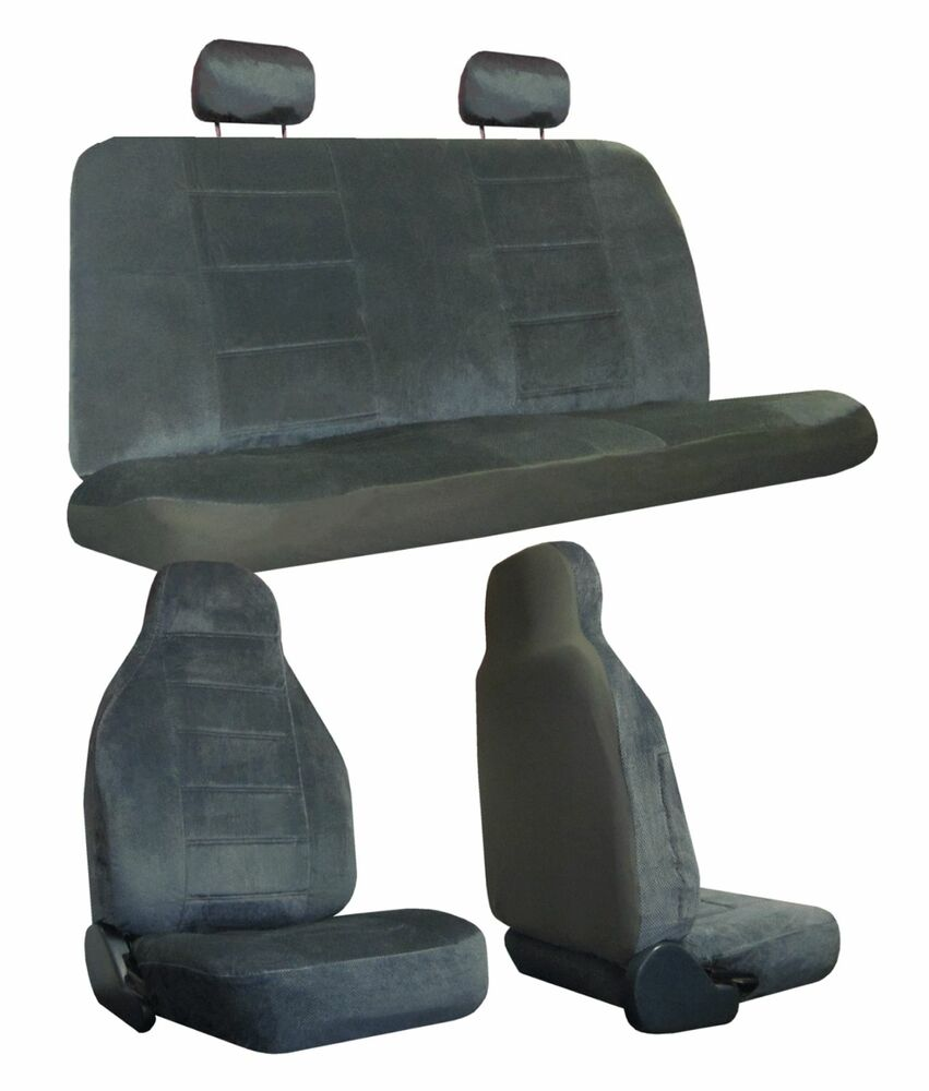 Vehicle Bench Seat ~ Regal velour car truck suv seat covers high back bench