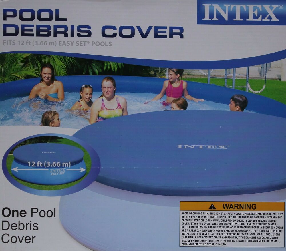 Intex swimming pool debris cover fits 12 ft easy set pools for 12 ft garden pool